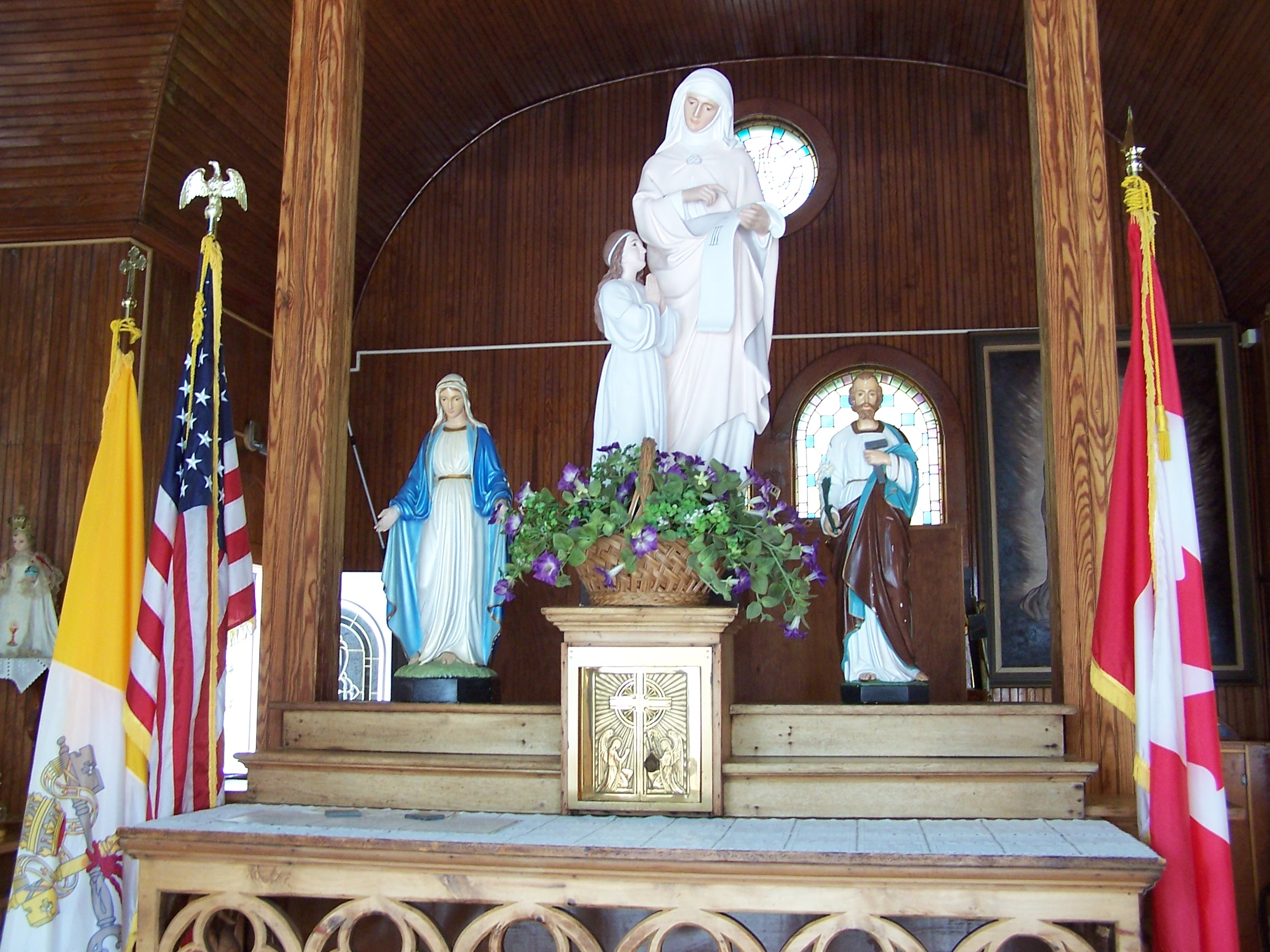 Saint Anne's Shrine is located on Isle LaMotte, a quiet island on Lake Champlain in Vermont. It was developed by the Society of Saint Edmund and has been maintained by them for 100 years..
